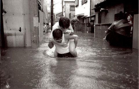 中野坂上 洪水